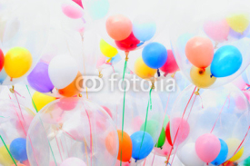 Fototapety Background of motley balloons