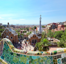 Naklejki BARCELONA, SPAIN : The famous Park Guell