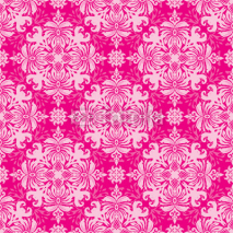 Fototapety Vintage classic ornamental seamless wallpaper in red and pink