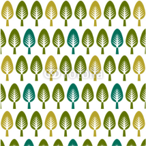 Obrazy i plakaty trees pattern, floral card,  floral background