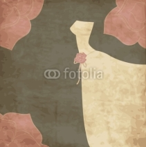 Fototapety Card with dress, wedding invitation