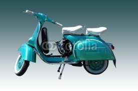Naklejki Vintage vespa scooter (path included)