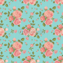 Fototapety Vector seamless pattern of blooming roses
