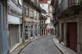 Fototapety Street and Houses in Old Town of Porto