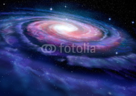 Fototapety Spiral galaxy, illustration of Milky Way