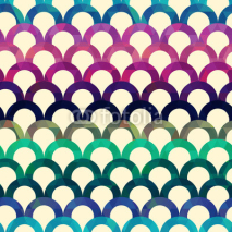 Fototapety seamless retro scallop vector background