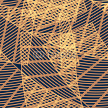 Fototapety Seamless abstract geometric pattern with lines and stripes