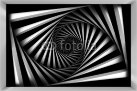 Fototapety Black and white spiral