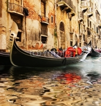 Fototapety Traditional Venice gandola ride