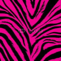 Fototapety aggressive pink background based on zebra fur