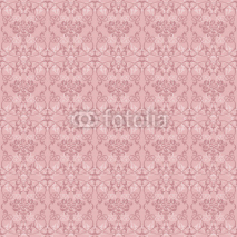 Obrazy i plakaty Floral seamless pattern ash-pink color