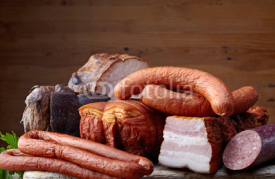 Naklejki smoked meat and sausages
