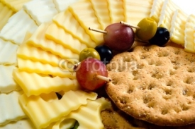 Fototapety Cheese in assortment