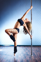 Naklejki Sexy pole dance woman