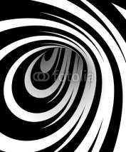 Fototapety Abstract black and white spiral