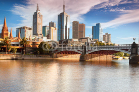 Naklejki Melbourne skyline from Southbank