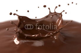 Fototapety Hot chocolate splash, isolated on white background.