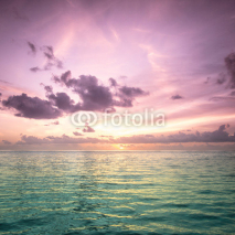 Fototapety Tropical blue sea water in Maldives