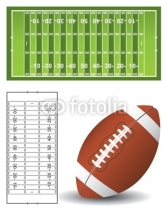 Fototapety American football pitch and ball