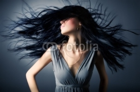 Fototapety Woman with fluttering hair