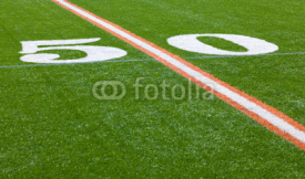 Fototapety American Football Field - 50 yard line