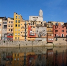 Naklejki architecture Girona, spain, catalonia