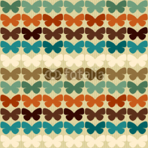 Fototapety Seamless pattern with butterflies in retro style.