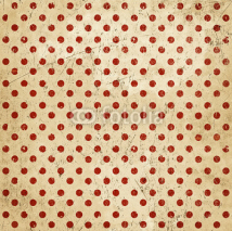 Naklejki Vintage abstract background, polka dots, grunge texture