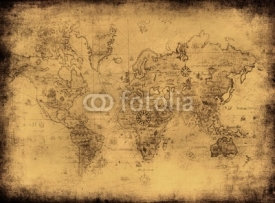 Fototapety ancient map of the world.
