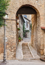Naklejki ancient alley in Bevagna, Italy