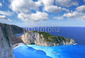 Obrazy i plakaty Navagio Beach with shipwreck in Zakynthos, Greece