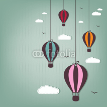 Fototapety hot air balloons