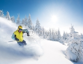 Fototapety skier in mountains