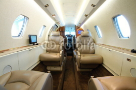 Naklejki Business aircraft cabin