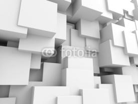 Obrazy i plakaty Abstract White Cubes Wall Background