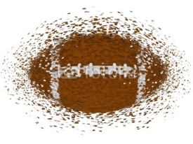 Fototapety american football ball exploding