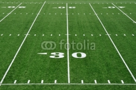 Fototapety 30 Yard Line on American Football Field