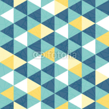 Fototapety Vector blue and yellow triangle texture seamless repeat pattern background. Perfect for modern fabric, wallpaper, wrapping, stationery, home decor projects.