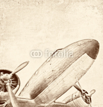 Naklejki Retro aviation, vintage background