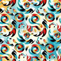 Fototapety seamless pattern of graffiti on a bright colored background abstraction