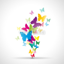 Fototapety Abstract butterflies background # Vector