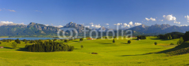 Fototapety panorama landscape in Bavaria with alps mountains