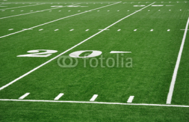 Fototapety Twenty Yard Line on American Football Field
