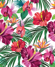 Naklejki tropical vector pattern