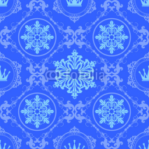 Obrazy i plakaty Christmas Wallpaper Seamless. Pattern.