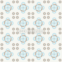 Obrazy i plakaty Blue seamless pattern. Design for tile, textile, fabric