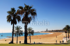 Naklejki Barcelona beach spain