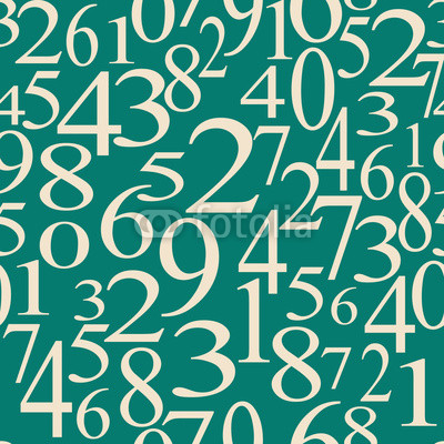 numerical seamless background