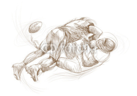 Fototapety american football players (this is original sketch)