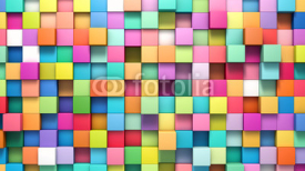 Obrazy i plakaty Abstract background of multi-colored cubes